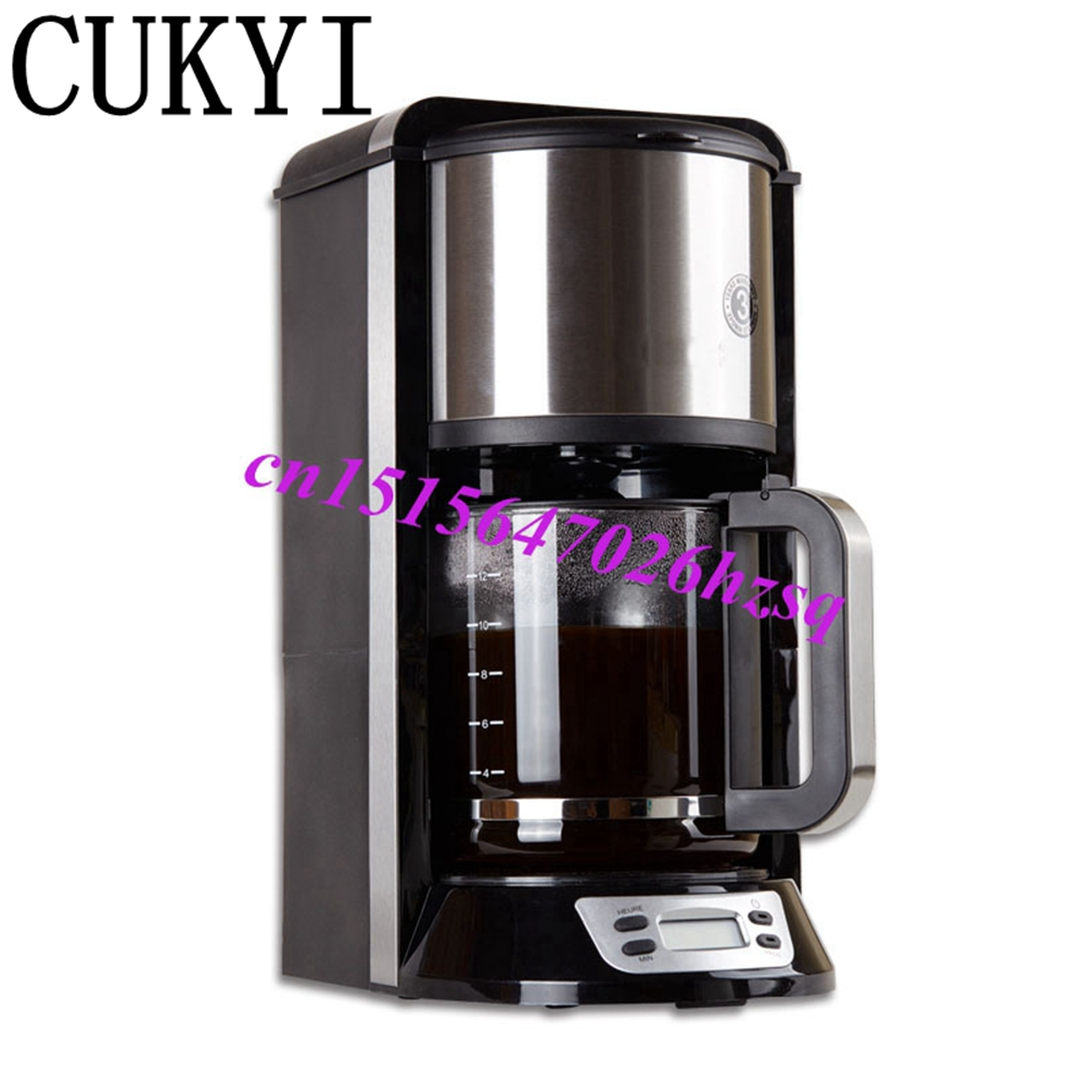 CUKYI Semi Automatic Drip Coffee maker American Electric coffee maker Tea machine Red tea Machine coffee maker uses the american drizzle to make tea drinking machine