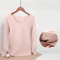 Autumn Winter Women t shirt Long Sleeve Velvet Plus Size t shirt Women Clothes Tops Seamless Thicker T shirt for Mujer
