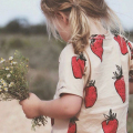 2016 Summer Kids  T-shirt Boys Girls Cute Strawberry Printed Tops Baby Clothes