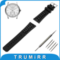19mm 20mm 21mm 22mm 23mm 24mm Silicone Rubber Watch Band Stainless Steel Pin Buckle Strap for Armani Wrist Belt Bracelet Black