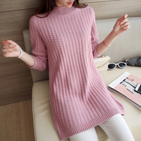 AI Yi Han 2016 new Korean semi solid in the long sleeved turtleneck Pullover Sweater backing