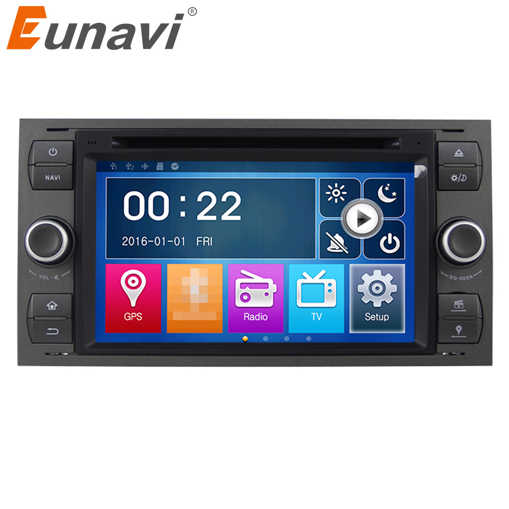 Eunavi 7 2 Din Car DVD Player For Ford Focus Galaxy Fiesta S Max C Max Fusion Transit Kuga In dash GPS Navi Radio StereoEunavi 7 2 Din Car DVD Player For Ford Focus Galaxy Fiesta S Max C Max Fusion Transit Kuga In dash GPS Navi Radio Stereo