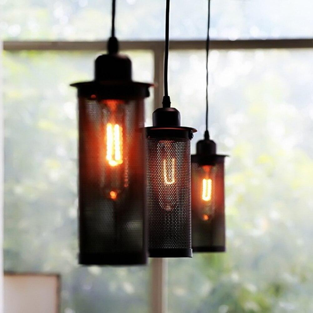 Warehouse Pendant Lights American Country Lamps Vintage Lighting for Restaurant/Bedroom Home Decoration Black  Lighting