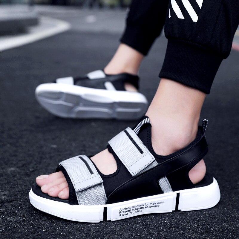 Leader Show  Men Sandals High Quality Summer Soft Sandals For Men Comfortable Beach Flats Men Shoes Fashion Men Casual Shoes
