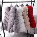 New Design 2016 Fashion Winter Women Fur Vest Faux Fox Fur Coat Woman Cloak Fur Vests Jacket Female Ladies Overcoat Size S-XXXL