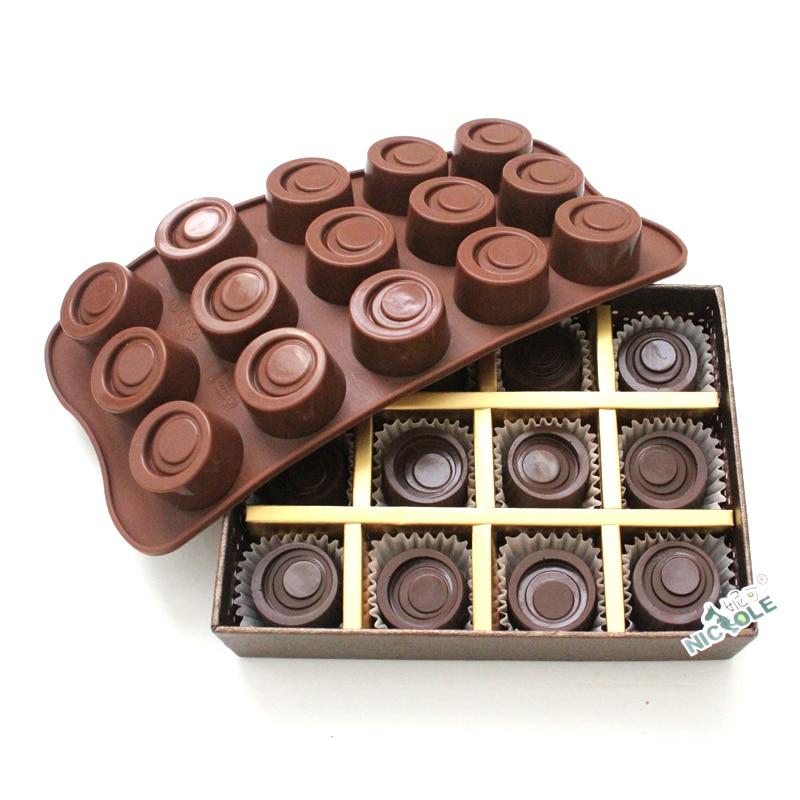 Nicole 20-Cavity Chocolate Bar Silicone Mold