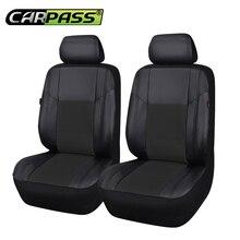 Car-pass Одежда высшего качества искусственная кожа авто чехлы подходят для большинства транспортных средств мест подкладке Аксессуары 5 цветов Автокресло Протектор