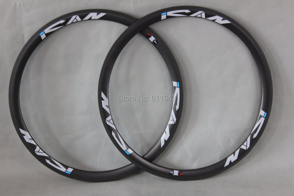 23mm Width 38mm Clincher Carbon Rim Basalt Brake Surface Rim|Bicycle Wheel| |  - title=