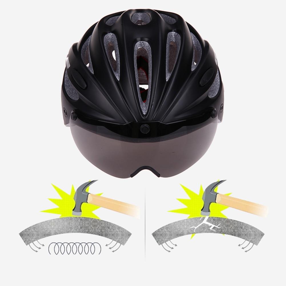 Sicherheit & Schutz 3 Farben Sicherheit Fahrrad Bike Sicherheit Helm Magnetische Einem Stück Schutz 18 Löcher Radfahren Helm Mit Winddicht Goggle Und Krempe 100% Original Arbeitsplatz Sicherheit Liefert