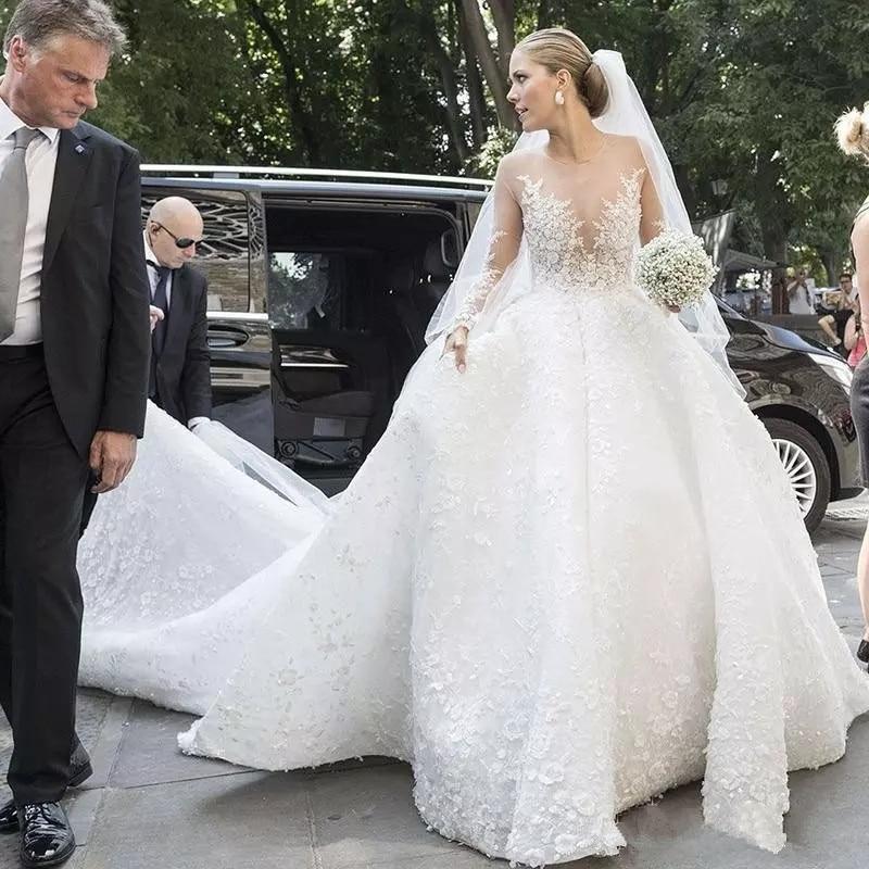 Tienda online calidad estable toma de corriente Vestidos De Novia Plus Size luxury Wedding Dresses Long Sleeve ...