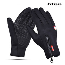 Black Winter Fishing Gloves Anti-Slip Touch Screen Leather Neoprene PU Full Finger Hunting Driving Cycling Sports