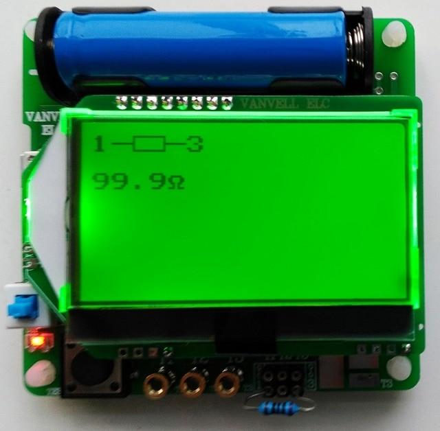 Новейшая версия индуктор-конденсатор ESR сопротивления метр DIY MG328 многофункциональный тест