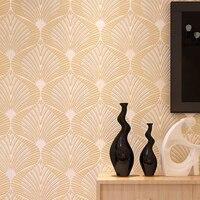 Tapety Modern Wallpaper Roll Simple Living Room Warm Bedroom Geometric Sofa TV Background Wallpaper Papel De