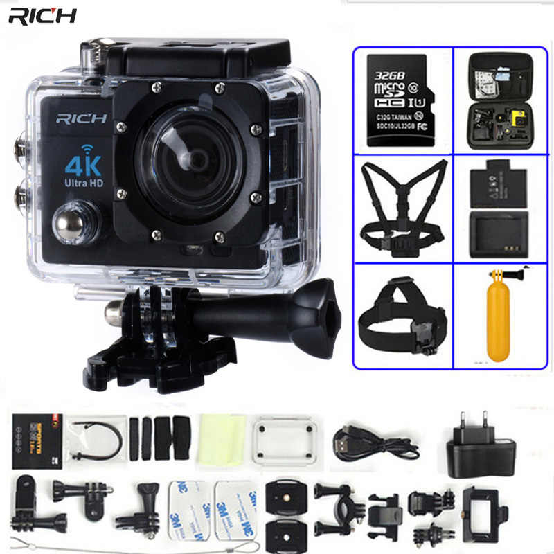 Action Camera 4K Ultra HD WIFI 1080P/30fps 2.0 LCD 170 Lens Diving Waterproof 30M DV Helmet Cam Sports Camera
