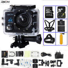 Action Camera 4K Ultra HD WIFI 1080P 30fps 2 0 LCD 170 Lens Diving Waterproof 30M DV go Helmet Cam pro Sports Camera cheap RICH About 5MP Other SONY Series Allwinner V3 (1080P 60FPS) 151g-200g SJ9000 51*49*21 4mm 2 0 1 2 6 inches 170° 900mah