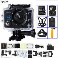 Caméra d'action 4K Ultra HD WIFI 1080 P/30fps 2.0 LCD 170 lentille plongée étanche 30M DV go casque Cam pro caméra de sport