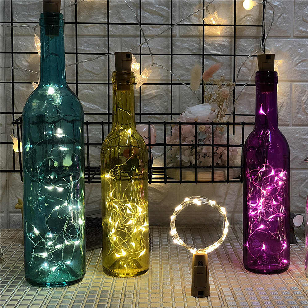 1M 2M LED Garland String Fairy Lights for Glass Craft Bottle New Year Christmas Valentines Wedding Birthday Party Decoration