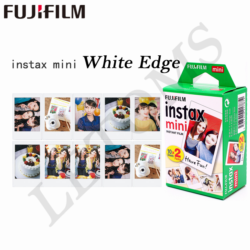 Original 100 feuille Fuji Fujifilm Instax Mini 8 Film blanc papier Photo instantané pour 7 s 8 9 90 25 55 partager SP-1 SP-2 appareil Photo instantané - 2
