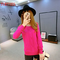 Spring Autumn New Cashmere Blend Women's O-Neck high quality Wool Sweater Slim bottoming Sweaters Knit Pullover Female