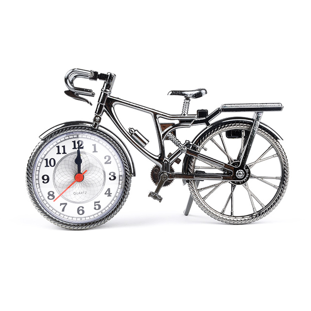Fashion ABS + Electronic Home Decoration Creatives Art Customed Bike Shape Clock Children Kids Bicycle Quartz Alarm Clock