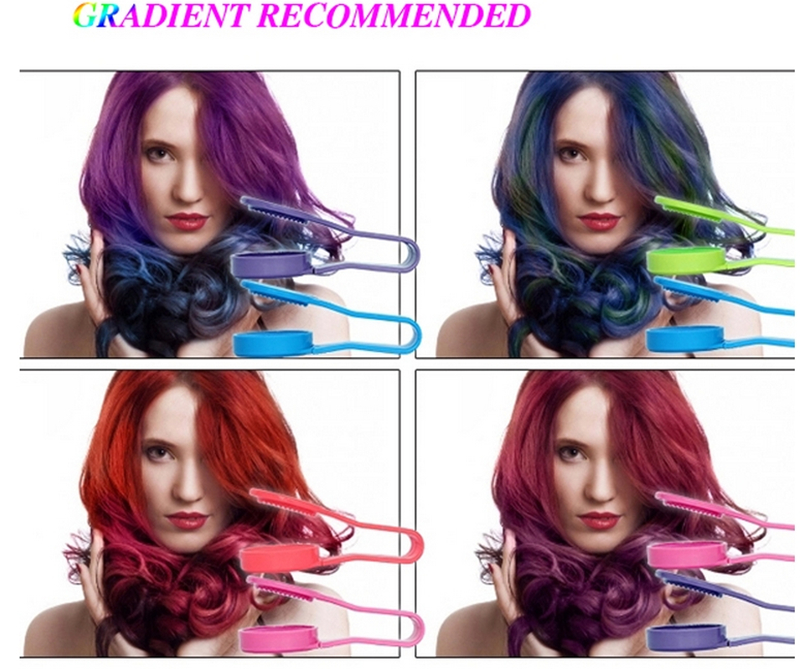 Dexe Temporary Hair Color Chalk Powder Beauty Gaga Halloween Party Makeup Disposable DIY Super Hair Dye Colorful Styling Kit 17