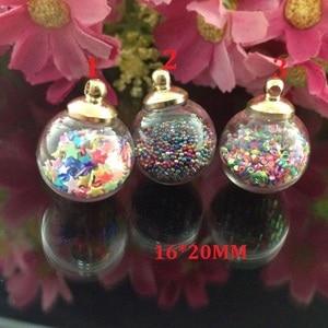 Image 3 - 6pcs/lot new arrival kawaii Fashion Wishing Crystal Glass Round Quicksand Ball Mobile Chain Key pendant diy jewelry accessory