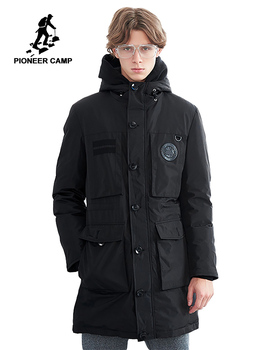 Pioneer Camp warm long down jacket men brand clothing winter super whiter down coat male top quality multi pockets AYR801434