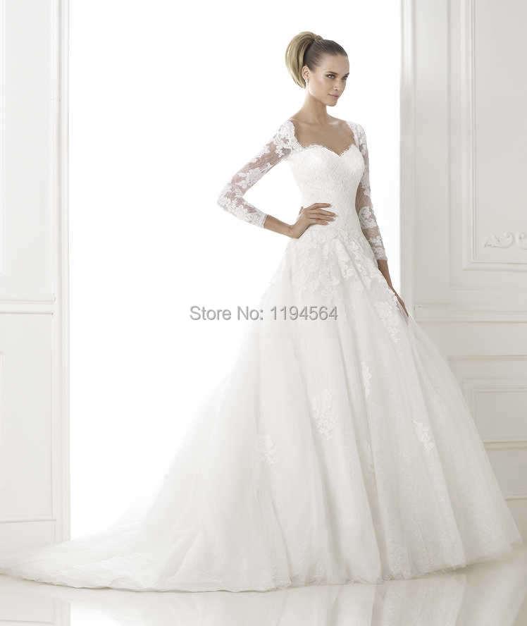 Corset Wedding Dress with Sleeves