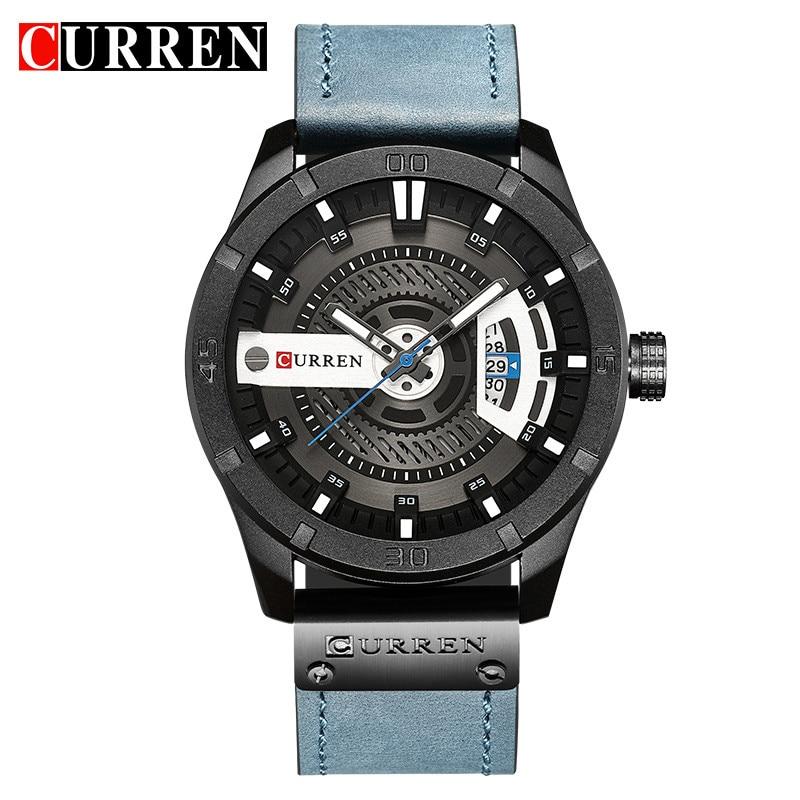 CURREN Luxury Brand Analog Sports Wristwatch Display Date Men's Quartz Watch Business Male Clock Relogio Masculino Montre Homme