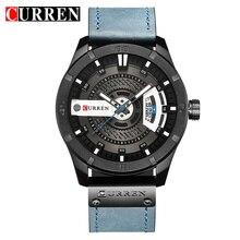 Luksusowa marka curren analogowy zegarek sportowy data wyświetlania męski zegarek kwarcowy męski zegarek biznesowy Relogio Masculino Montre Homme