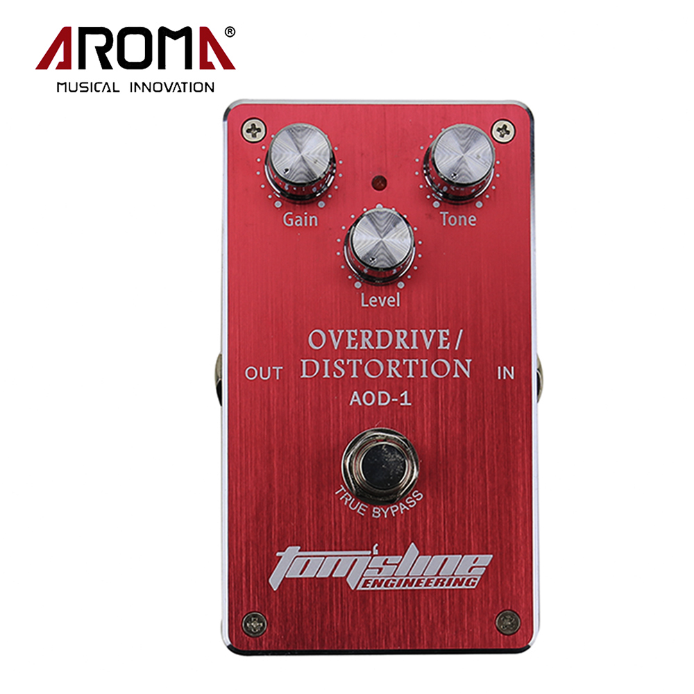 Aroma AOD-1 Overdrive Distortion Electric Guitar Effect Pedal Aluminum Alloy Housing Ture Bypass Design Guitar Pedal hot 5x aroma aod 1 electric guitar bass overdrive distortion effect pedal true bypass