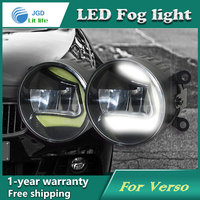 Super White LED Daytime Running Lights Case For Toyota Verso 2009 Drl Light Bar Parking Car