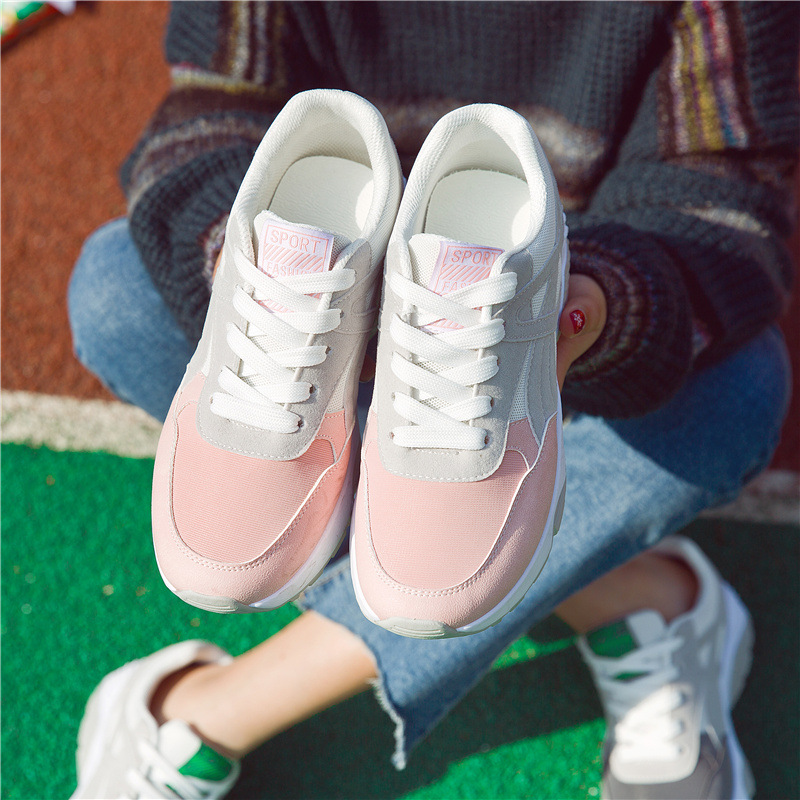 Women casual shoes breathable fashion women Mesh shoes 2017 New Arrivals Mixed colors  Lace-Up Women Walking shoes Size 35-40 new casual breathable mesh shoes for women floral pattern women s flats shoes fashion summer leisure net walking shoes 6 colors