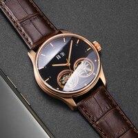 Bestdon автоматические механические часы Мужские Двойные Tourbillion мужские часы люксовый бренд часы со скелетом сапфир montre homme 2019