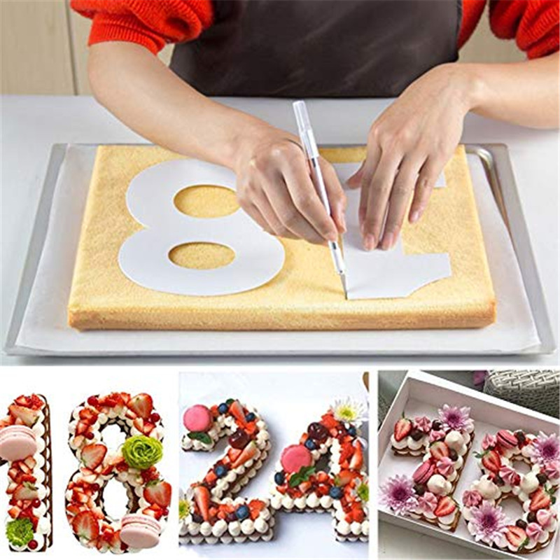 Molds For <font><b>Cakes</b></font> Plastic Alphabet Number <font><b>Cake</b></font> Molds Mould <font><b>Cake</b></font> <font><b>Decorating</b></font> <font><b>Fondant</b></font> <font><b>Tools</b></font> Wedding Birthday Baking <font><b>Cake</b></font> <font><b>Accessories</b></font> image