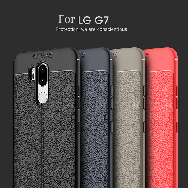 456cc6d4dc8 For LG G7 Case 6.1 inch Luxury Ultra-Thin Shockproof Soft TPU Leather Phone  Cases For LG G7 G 7 Coque Fundas