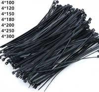 500 шт 4x250 100 120 150 180 200 250 300 мм черно-белые Yatai брендовые пластиковые самоблокирующиеся Нейлоновые кабельные стяжки пластиковые ленты