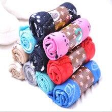 Pet-Blanket Sofa Fleece Soft Cat-Mat Puppy-Bed Coffee-Shop Dog Paw-Print Warm Home Picnic-Supplies