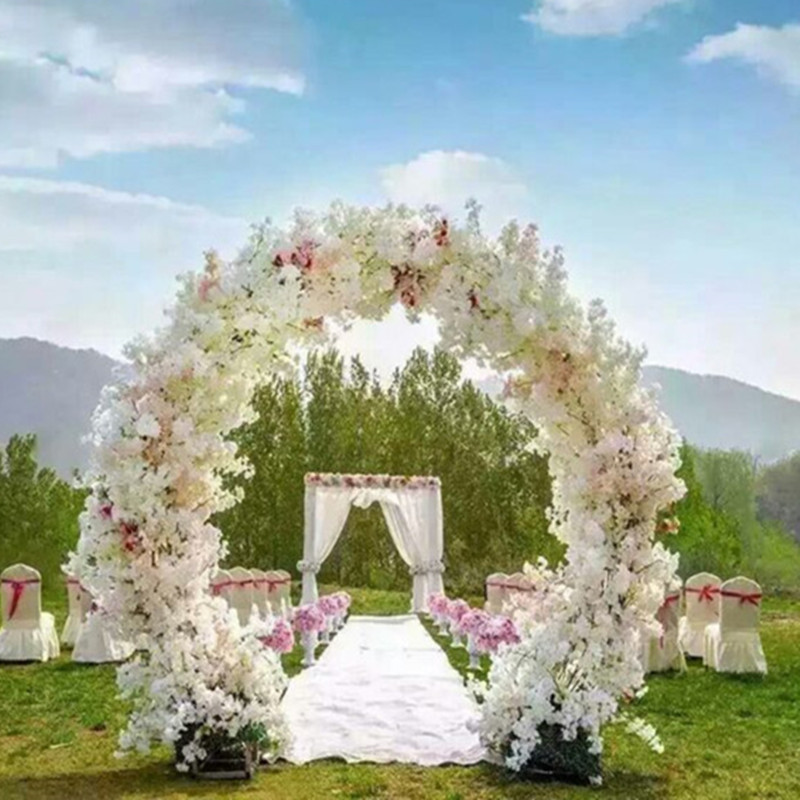 1 meter long artificial simulation cherry blossom flower bouquet wedding arch decoration garland. Black Bedroom Furniture Sets. Home Design Ideas