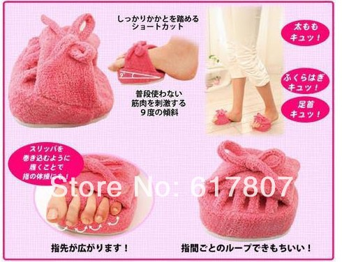 Superhot- New One Pair Pink Slim Slipper Half Sole Massage Shoes Weight Loss Dieting Legs Slippers 257 1 pair massage slipper 2 pieces 2 pin