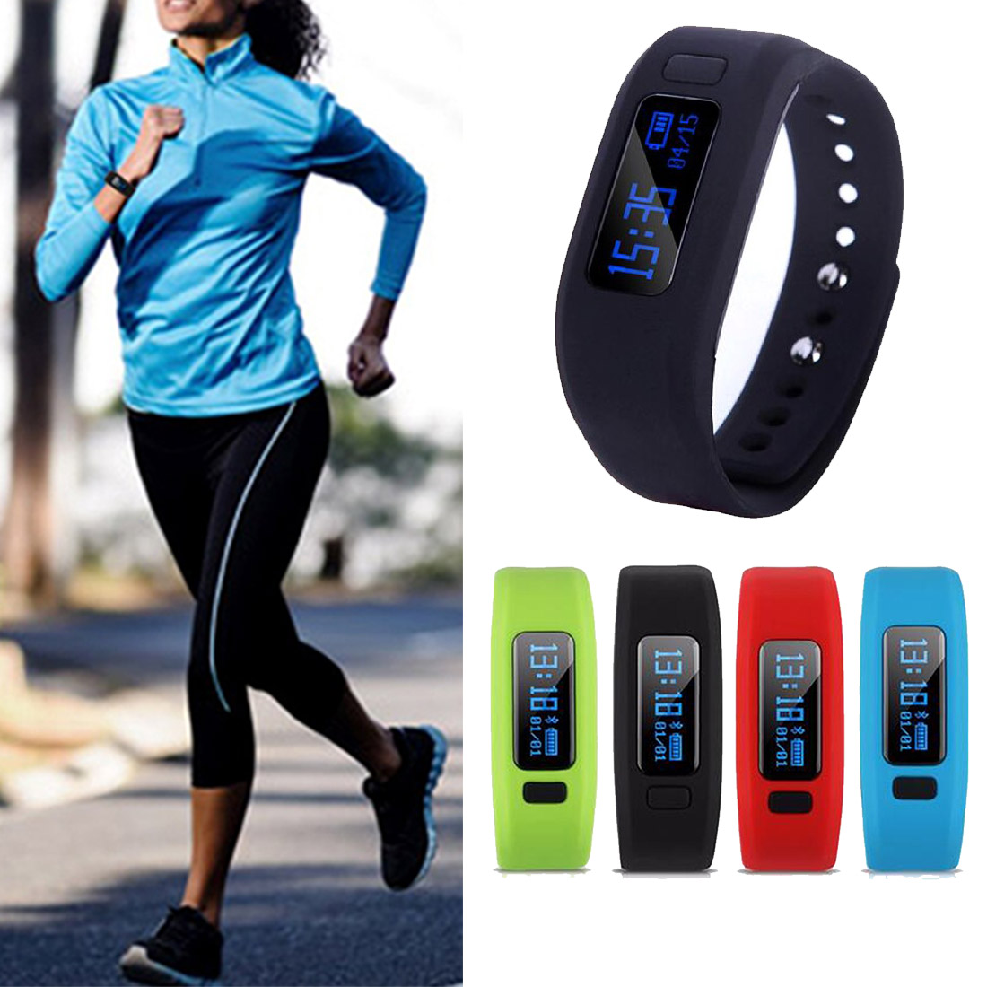 Moving up2 Fitness Tracker Bluetooth Smartband Sport Bracelet Smart Band Wristband Pedometer For iPhone IOS Android