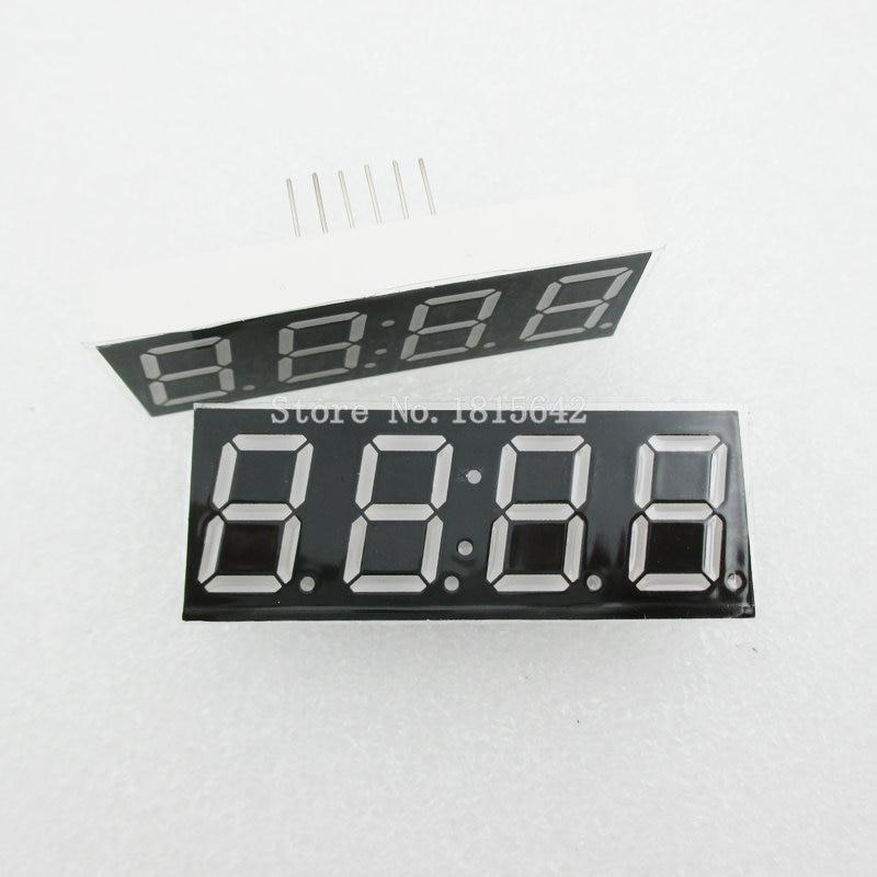 5PCS/LOT Common Anode 4bit 4 Bit Digital Tube 0.56 Inch Red LED With Clock Digit 7 Segment (CLOCK)