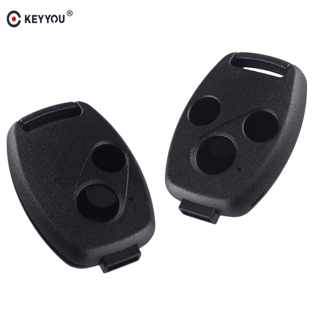 KEYYOU 2/3 Buttons Remote Car Key Cover Case Shell For Honda Accord For Civic CRV Pilot 2007 2008 2009 2010 2011 2012 2013 new car remote key fob cover case holder protect for honda 2016 2017 crv pilot accord civic fit freed keyless entry car styling