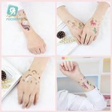 12pcs/set Children Tattoo Sticker Cartoon Tatuajes Temporal Kids Waterproof Fake Tatoo Hand Taty Cute Unicorn Tatouage Body Art