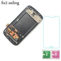 Super LCD Hiển Thị 100% Thử Nghiệm Làm Việc Màn Hình Cảm Ứng Hội Cho Samsung Galaxy S3 i9300 Với Kính Cường Lực Màu Đen/Trắng