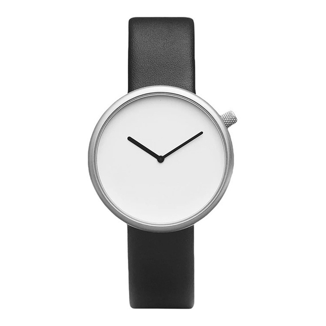 Nordic Minimalism Simple Watch Creative mineral Stylish Quartz Women Watch Men Lover Leather Wristwatches Ultra Thin dial Casual