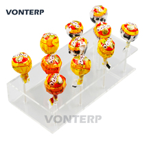VONTERP 1PC 11 holes Transparent Plexiglass Acrylic Lollipop Display Stand/Acrylic lollipop stand/Holder