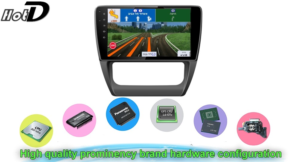 Car Multimedia Video GPS NAVI Controller System For Volkswagen VW Vento Hardware configuration