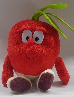 Детские мягкие игрушки детские развивающие игрушки красочные фрукты овощи 10-35 см Рождественский подарок - Цвет: white radish