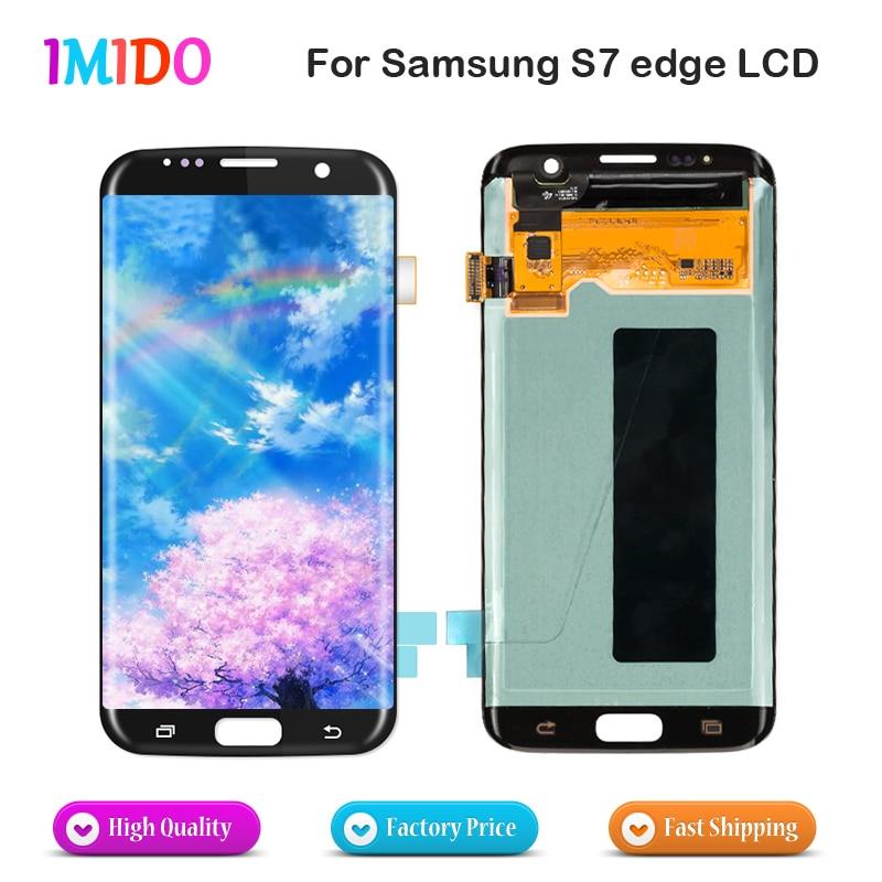 Blanc noir or argent LCD affichage à l'écran tactile digitizer Assemblée pièces de rechange pour Samsung Galaxy S7 bord G935 G935F